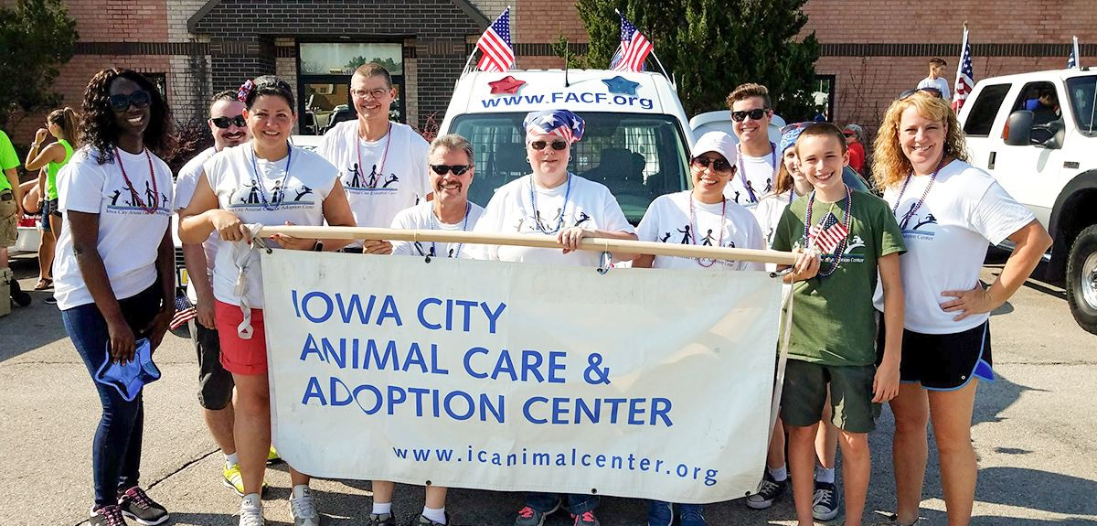 a group of animal shelter volunteers